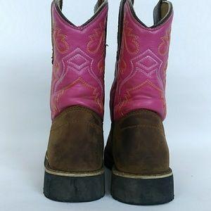 Itasca Girls Youth Pull-on Leather//Nylon Buckaroo Western Boot
